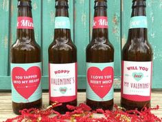 Valentines Beer Labels Valentines Gift for Him Gift for Husband Beer Lover Gift Valentines Day All You Need is Love and Beer #beerlover