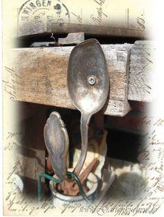 Haken aus Silberlöffel