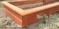 Full tutorial complete with pictures and detailed instructions and parts list to help you learn how to build a wood garden box.