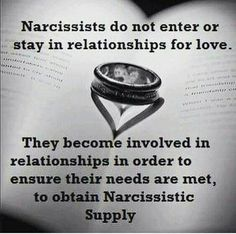Narcopath are incapable of LOVE they only love the supply that they feed off and fake the love they know nothing of. Narcissist Psychopath- And some will flat out tell you this. Narcissistic Supply, Narcissistic People, Narcissistic Behavior, Narcissistic Sociopath, Narcissistic Personality Disorder, Narcissistic Sister, Abusive Relationship, Toxic Relationships, Relationship Advice