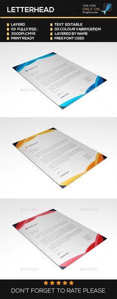 Letterhead Template Letterhead, Simple and Business - corporate letterhead template