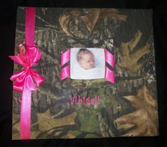 Mossy Oak Baby book Scrapbook Wedding book Hunting by elsstudios, $65.00