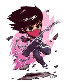 "4,504 curtidas, 28 comentários - Derek Laufman (@dereklaufman) no Instagram: ""First Chibi of 2017 is Silk! Grab the latest print at www.dereklaufman.com (link in my profile)…"""