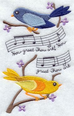 Feathers and Faith - How Great Thou Art  I need to learn how to embroidery and create this picture, how beautiful!