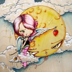Cupid Gifts Her Heart and Moon Balloon Wonders by pinkytoast