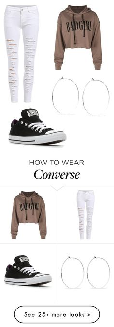 """Casual wear"" by flawlessjaz101 on Polyvore featuring Converse and Catbird"