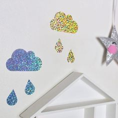 #Twinkle twinkle✨. . . . . #holographic #walldecals #lightreflection #prettywalls #clouds #raindrops #mpsandtsc #uniquepartygifts #smallbusiness #supportsmall #instagirls #instaboy  #handmade #handcrafted #instakids #instamums #personalised #customorder #homedecor #nurserydecor #partydecor