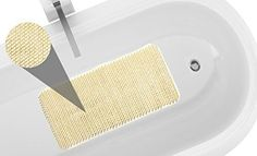 Royal Bath Anti Slip Vinyl Grass Bath Tub Mat (14 inch x 26 inch ) - Ivory