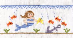 """Mermaid & Friends"" Smocking Plate by Crosseyed Cricket"