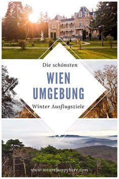 Die schönsten Wien Umgebung Ausflugsziele im Winter, die auch ohne Schnee alles andere als trist sind. Wien Ausflüge im Winter in die Natur! #wien #wienumgebung #niederösterreich #wandern #rundumwien #winterausflüge #winterausflug Travel Companies, Winter, Travel Destinations, Cool Designs, Explore, World, Places, Nature, Outdoor