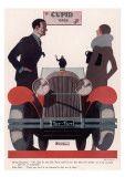 Art Deco Cupid Cars Print