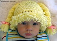 Cabbage Patch Kid Inspired Crochet Hat Pattern, PDF Crochet Pattern, Cabbage Patch Hat tutorial