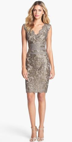 Embellished Metallic Lace Sheath Dress http://rstyle.me/n/igyfsn2bn