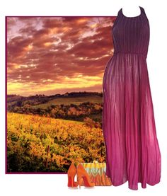 """""""Summer Sunset"""" by cowseatchard ❤ liked on Polyvore featuring Serpui and Christian Louboutin"""