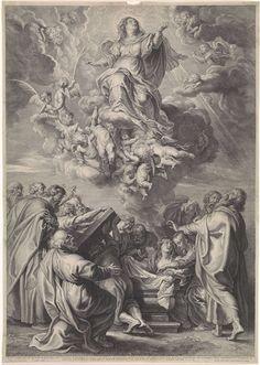 Hemelvaart van Maria met apostelen, Schelte Adamsz. Bolswert, 1596 - 1659