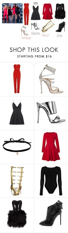 """""""Christmas TP4Y inspired 🎄❤️"""" by officialarianagrandebutera ❤ liked on Polyvore featuring Coast, Dsquared2, AX Paris, Giuseppe Zanotti, Joomi Lim, WithChic, Boohoo and Lillie Rubin"""
