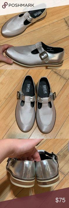 421a039e7b Swear London White Silver Mary Jane - Like New Swear London Mary Jane shoes!