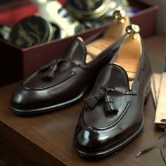 Classic Brown Tassel Loafers by Carmina at the Armoury.