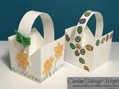 Simple Easter Basket Tutorial with Basket Bunch by Stampin' Up