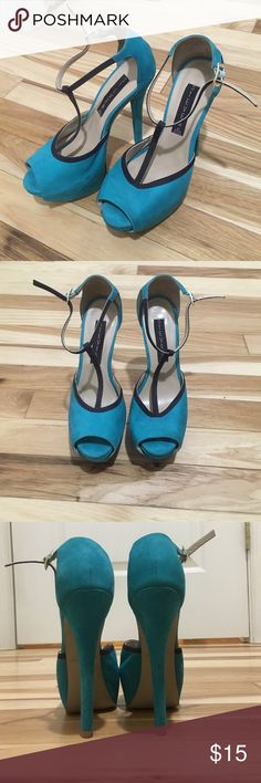 STEVEN by Steve Madden Turquoise Heels STEVE by Steve Madden Turquoise Heels Steven by Steve Madden Shoes Heels