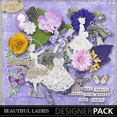 Kit Beautiful Ladies by Scrap de Yas (PU)