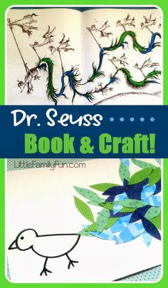 EASY Dr. Seuss Craft! Fun craft to go with the story of Gertrude McFuzz. Great idea for kids!