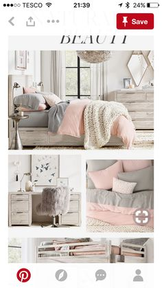 Colour of joinery; bed with storage drawers Pink Bedroom Decor, Master Bedroom Interior, Bedroom Colors, Home Bedroom, Living Room Decor, Bedroom Ideas, My New Room, Girl Room, Room Inspiration