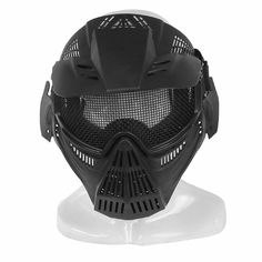 b5b84288a26 Infityle Airsoft Masks- Adjustable Half Metal Steel Mesh Face Mask And  UV400 Goggles Set For Hunting
