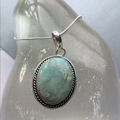 """Beautiful Rare Caribbean Larimar Pendant ❤️SALE ❤️ Awesome Caribbean Larimar Pendant on a Sterling Silver Chain.Pendant is over 1 1/2"""" long Gorgeous Piece!! Jewelry Necklaces"""