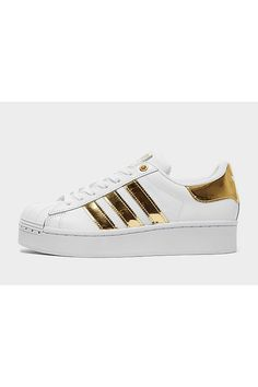 Shop online for adidas Originals Superstar Bold Women's in White with JD Sports, the UK's leading sports fashion retailer. White Adidas Originals, Jd Sports Fashion, Aesthetic Shoes, Retro Look, Platform Sneakers, Adidas Superstar, Adidas Sneakers, Footwear, Summer Styles