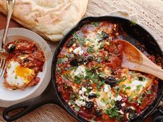 Shakshuka: North African-Style Poached Eggs in Spicy Tomato Sauce