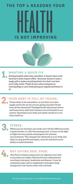 If you are not seeing the results in your health that you think you should, consider taking a look at these 4 issues.