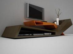 Móveis de sala estar (Móvel para tv, movel com 2 colunas e 2 cubos ...