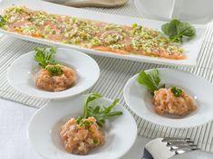 Tiradito y tartar de salmón fresco