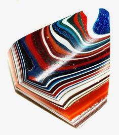 Button ~ Fordite, with Faceted Glass Pieces Laminated Together - Made By KPHoppe - Medium by KPHoppe on Etsy Thing 1, Faceted Glass, Car Manufacturers, Carving, Buttons, Medium, Etsy, Wood Carvings, Sculpting