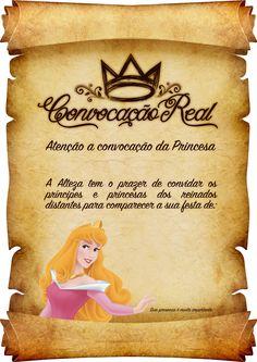 Convite Pergaminho Princesa Aurora
