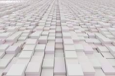 White cubes - 3d rendering of a background with white cubes