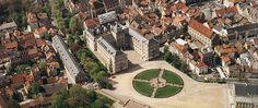 Schloss Ehrenburg, Luftaufnahme