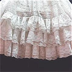 369453: Antique christening gown/ Valenciennes lace : Lot 369453