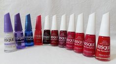 Vida de Sonhos: Concurso: Esmaltes Sete Vermelhos capitais Risqué Nails, Manicure, Make Up, Candles, Closet, Red Stripes, Nail Polish Colors, Toenails Painted, Perfect Nails