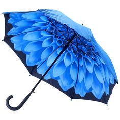 Galleria Blue Dahlia Double Canopy Umbrella http://www.hellobrolly.co.uk/flower-umbrellas/galleria-blue-dahlia-double-canopy-umbrella