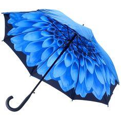 Galleria Blue Dahlia Double Canopy Umbrella http://www.hellobrolly.co.uk/flower-umbrellas/galleria-blue-dahlia-double-canopy-umbrella