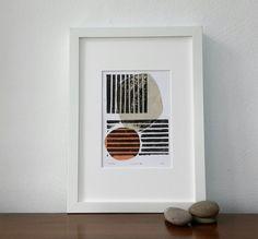 BatonRouge, Blockprint, Papier Collage, Linolschnitt, Originalgrafiken, abstrakte Kunst, bildende Kunst, Kunst, minimalistisch, Scandi, geometrischen Drucken