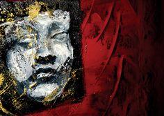Red art, Acrylic on aluminum by Elisabeth Takvam