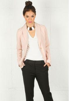 blazer + peach = yum. / sammi blazer / elizabeth and james