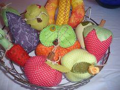 Frutas de tecidos....