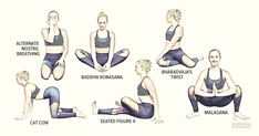 If you have Polycystic Ovarian Syndrome (PCOS), give these 11 yoga Poses for PCOS a try to help decrease stress hormones. by Read Quick Weight Loss Tips, Weight Loss Help, Weight Loss Program, How To Lose Weight Fast, Losing Weight, Reduce Weight, Yoga For Pcos, Yoga For Fertility, Pilates