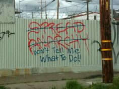 Even anarchists hate being told what to do...