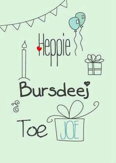 Heppie Bursdeej.