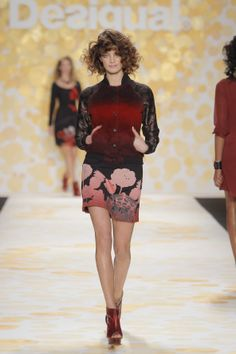 We love this tones of red! #NYFW